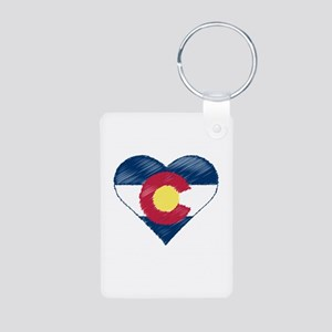 I Love Colorado Aluminum Photo Keychain
