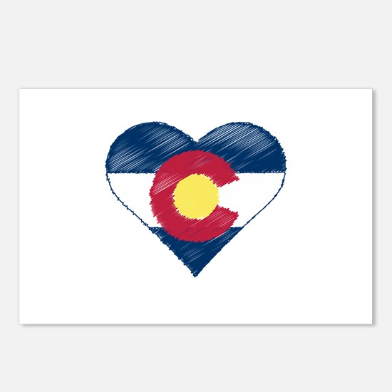 I Love Colorado Postcards (Package of 8)