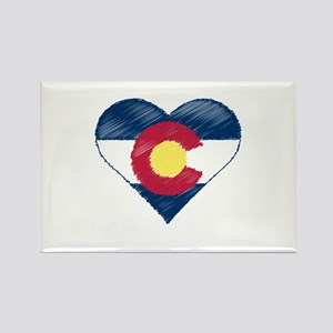 I Love Colorado Rectangle Magnet