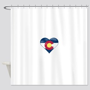 I Love Colorado Shower Curtain