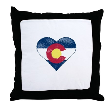 I Love Colorado Throw Pillow