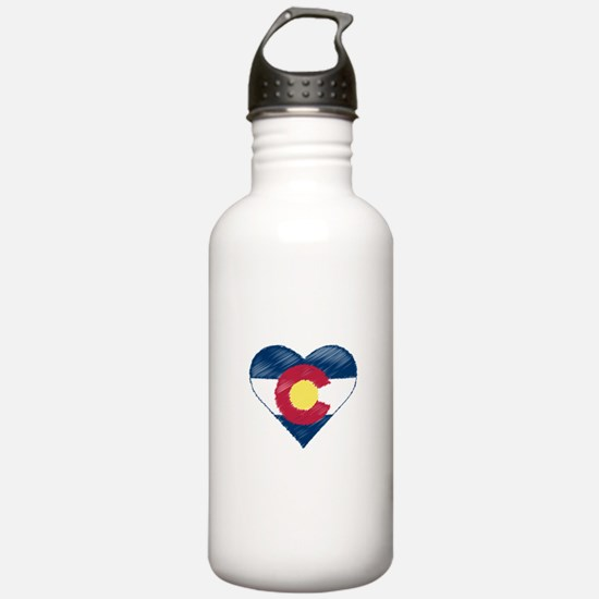 I Love Colorado Water Bottle
