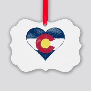 I Love Colorado Picture Ornament