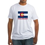 Colorado State Flag Fitted T-Shirt
