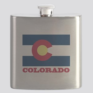 Colorado State Flag Flask