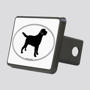 Black Lab Outline Rectangular Hitch Cover