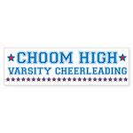 Choom High Varsity Cheerleading Sticker (Bumper)