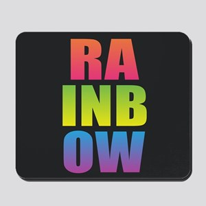 Rainbow Black Rainbow Mousepad
