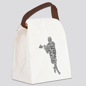 Lacrosse Lingo Canvas Lunch Bag