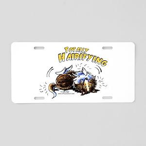 Sheltie Hairifying Aluminum License Plate