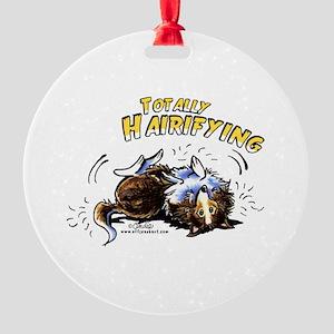 Sheltie Hairifying Round Ornament