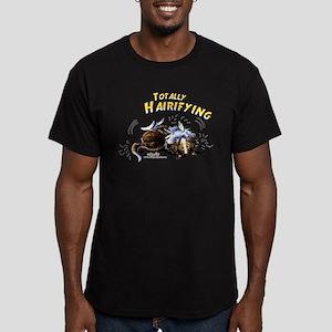 Sheltie Hairifying Men's Fitted T-Shirt (dark)