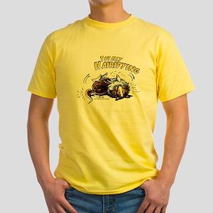 Sheltie Hairifying Yellow T-Shirt