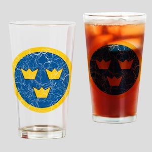 Sweden Roundel Drinking Glass