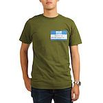 Personalizable SQLi Name Tag Organic Men's T-Shirt