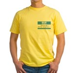 Personalizable SQLi Name Tag Yellow T-Shirt