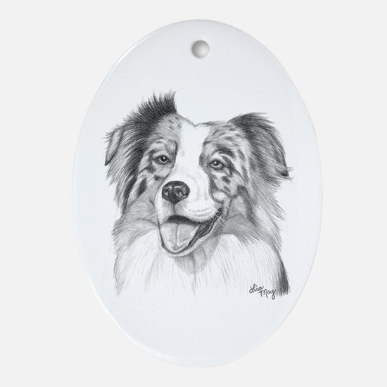 Australian Shepherd Ornament (Oval)