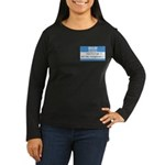 Personalizable SQLi Name Tag Women's Long Sleeve D