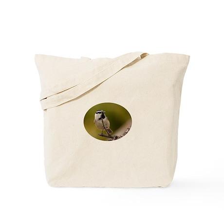 chickadee with seed Tote Bag