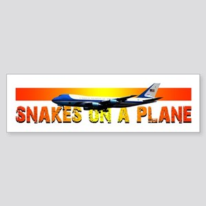 Snakes on a plane Bumper Sticker