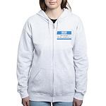 Personalizable SQLi Name Tag Women's Zip Hoodie