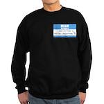 Personalizable SQLi Name Tag Sweatshirt (dark)