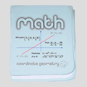Math Coordinate Geometry baby blanket
