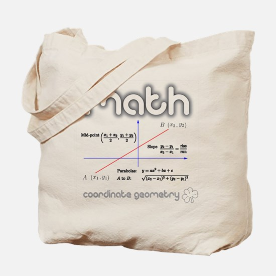 Math Coordinate Geometry Tote Bag