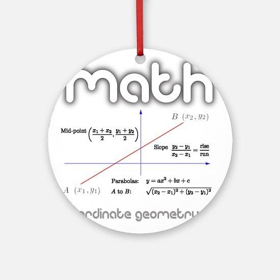Math Coordinate Geometry Ornament (Round)