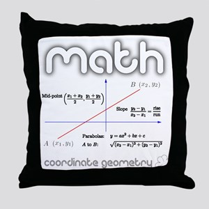Math Coordinate Geometry Throw Pillow