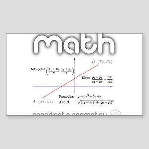 Math Coordinate Geometry Sticker (Rectangle)