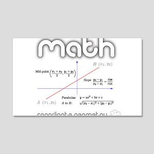 Math Coordinate Geometry 20x12 Wall Decal