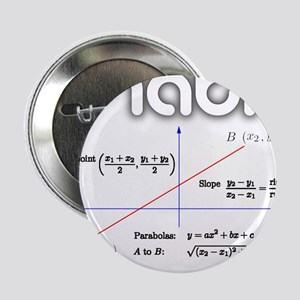 "Math Coordinate Geometry 2.25"" Button"