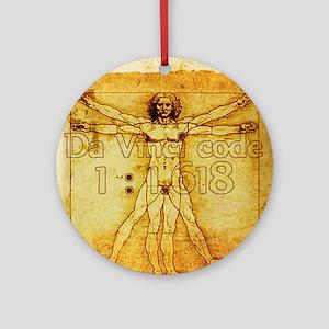 Davinci's Golden Ratio Ornament (Round)
