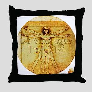 Davinci's Golden Ratio Throw Pillow