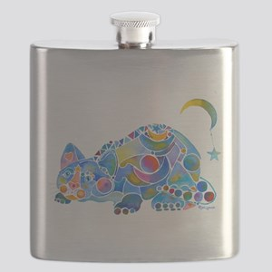 Cat of Moon and Stars Flask