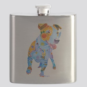 Jack Russell Terrier Many Colors Flask