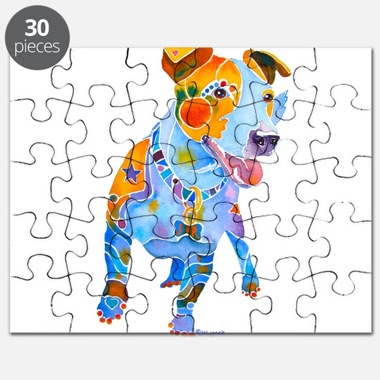 Jack Russell Terrier Many Colors Puzzle