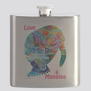 Manatees of Many Colors Flask