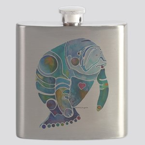 Manatees Endangered Species Flask