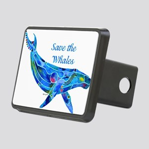 SaveWhaleHumpback Rectangular Hitch Cover
