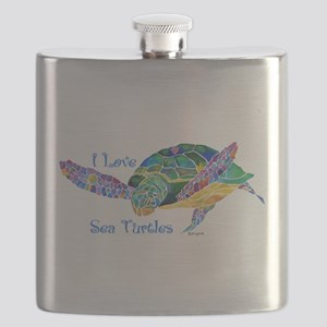 I Love Sea Turtles 2 Flask