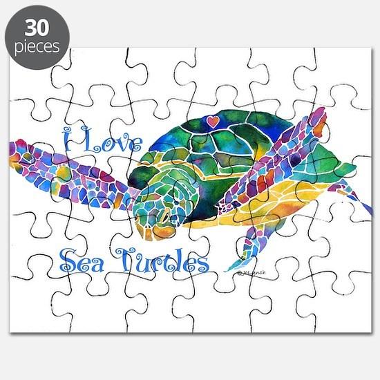 I Love Sea Turtles 2 Puzzle