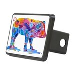 Pigs of Many Colors Rectangular Hitch Cover