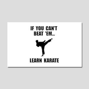 Learn Karate Car Magnet 20 x 12
