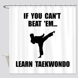 Learn Taekwondo Shower Curtain