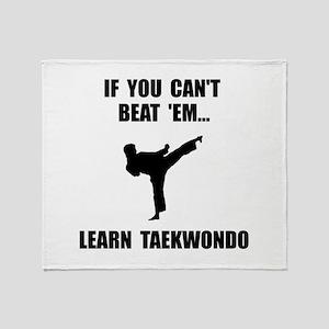Learn Taekwondo Throw Blanket