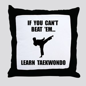 Learn Taekwondo Throw Pillow