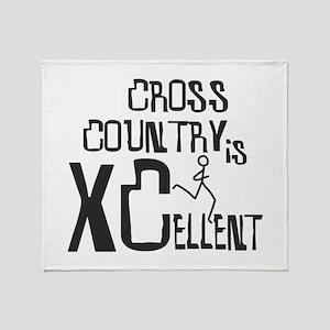 XC Cross Country Throw Blanket