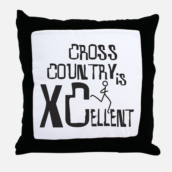 XC Cross Country Throw Pillow